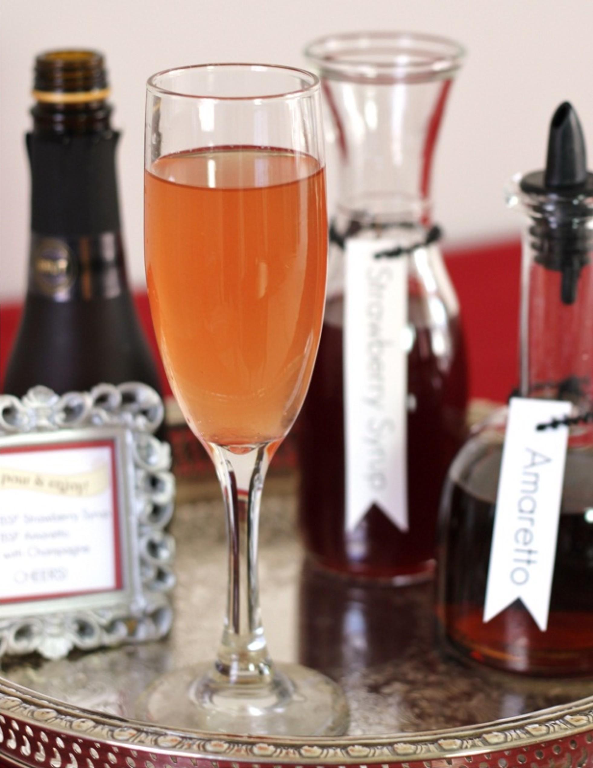cocktail de champagne um doce dia. Black Bedroom Furniture Sets. Home Design Ideas