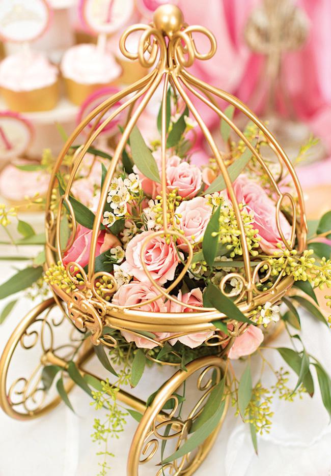 Festa de princesa – Tons de rosa e dourado – Um Doce Dia