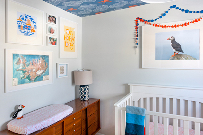 Quarto de bebê Azul e laranja – Um Doce Dia ~ Um Quarto De Laranja Blog